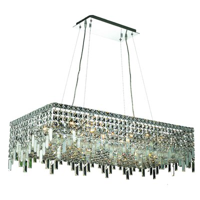 Bratton 16-Light Kitchen Island Pendant Size / Crystal Trim: 36 / Elegant Cut