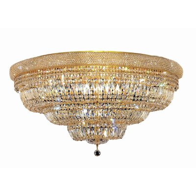 Jessenia 30-Light Flush Mount Finish: Gold, Crystal Grade: Elegant Cut
