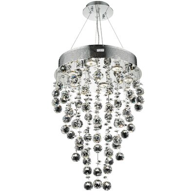 Galaxy 7-Light Cascade Pendant Crystal Trim: Strass Swarovski