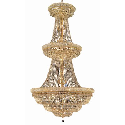 Jessenia 38-Light Crystal Chandelier Finish: Gold, Crystal Trim: Elegant Cut