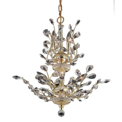Lamons 8-Light Crystal Chandelier Finish: Gold, Crystal Grade: Swarovski Strass