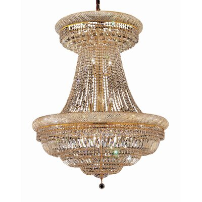 Jessenia 28-Light Empire Chandelier Finish: Gold, Crystal Trim: Elegant Cut