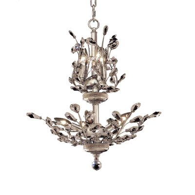 Lamons 8-Light Crystal Chandelier Finish: Chrome, Crystal Grade: Swarovski Strass