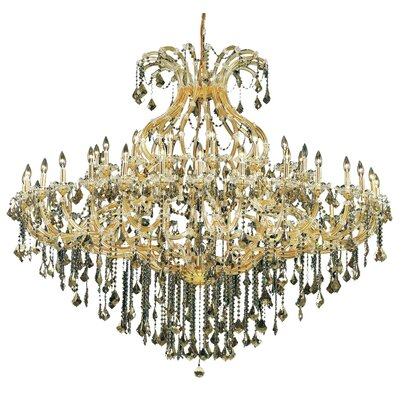 Regina 49-Light Up Lighting Royal Cut Crystal Chandelier Finish / Crystal Finish / Crystal Trim: Chrome / Golden Teak (Smoky) / Royal Cut