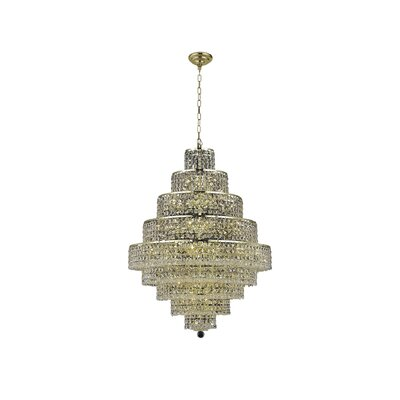 Bratton 20-Light Crystal Chandelier Crystal Trim: Spectra Swarovski