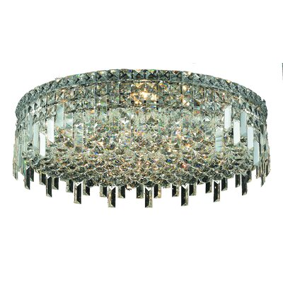 Bratton 9-Light Flush Mount Crystal Grade: Royal Cut
