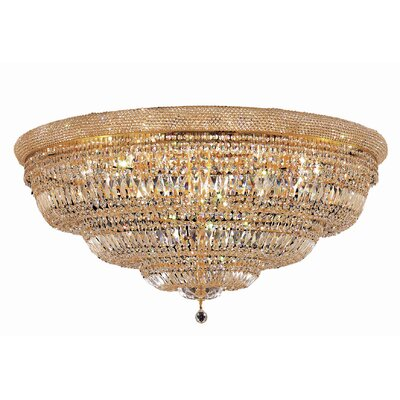 Jessenia 33-Light Flush Mount Finish: Chrome, Crystal Grade: Elegant Cut