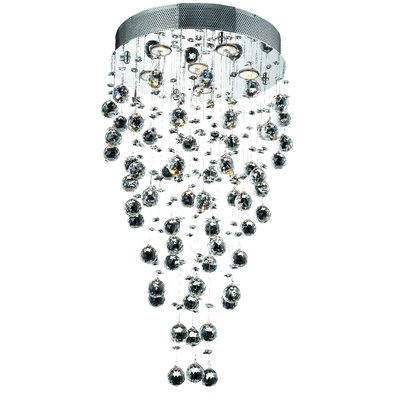 Deidamia 6-Light Crystal Chandelier Crystal Trim: Royal Cut
