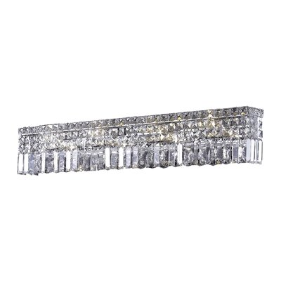 Bratton 8-Light Wall Sconce Crystal Grade: Royal Cut, Crystal Color: Crystal Clear