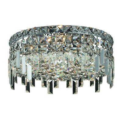 Maxim 4-Light Semi Flush Mount Size / Crystal Grade: 12 / Royal Cut
