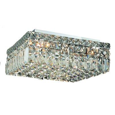 Maxim 5-Light 14 Flush Mount Crystal Grade: Spectra Swarovski