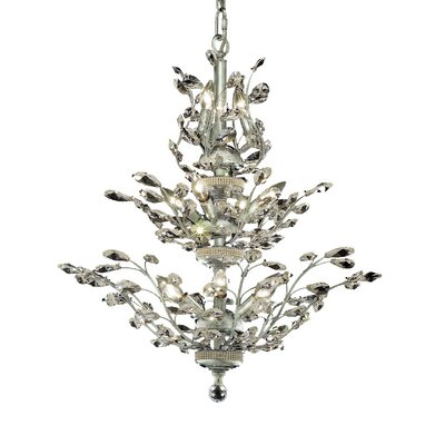 Lamons 13-Light Crystal Chandelier Finish: Chrome, Crystal Grade: Swarovski Spectra