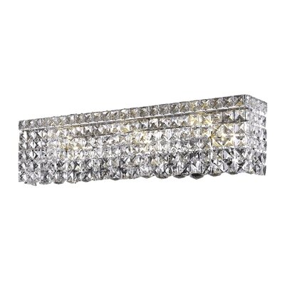 Bratton 6-Light Chrome Wall Sconce Crystal Color: Crystal Clear, Crystal Grade: Elegant Cut