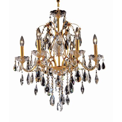 Thao 6-Light Crystal Chandelier Finish: Gold, Crystal Trim: Royal Cut