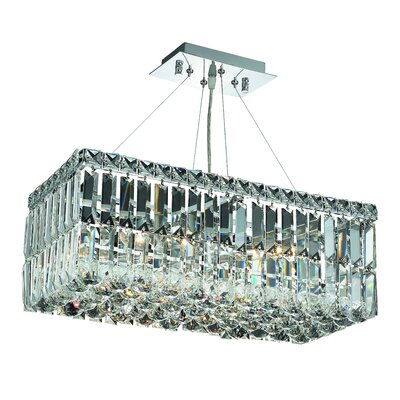 Maxim 4-Light Kitchen Island Pendant Crystal: Elegant Cut