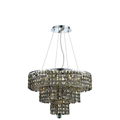 Bratton Modern 9-Light Crystal Chandelier Crystal Color / Crystal Trim: Silver Shade (Grey) / Royal Cut