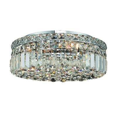 Maxim 5-Light 16 Flush Mount Crystal Grade: Spectra Swarovski