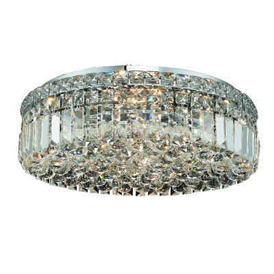 Maxim 6-Light 20 Flush Mount Crystal Grade: Strass Swarovski