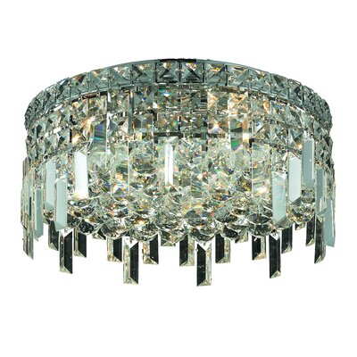 Maxim 5-Light 18 Semi Flush Mount Crystal Grade: Royal Cut