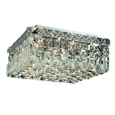 Maxim 4-Light 12 Flush Mount Crystal Grade: Royal Cut