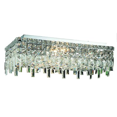 Bratton 6-Light Semi Flush Mount Crystal Grade: Royal Cut