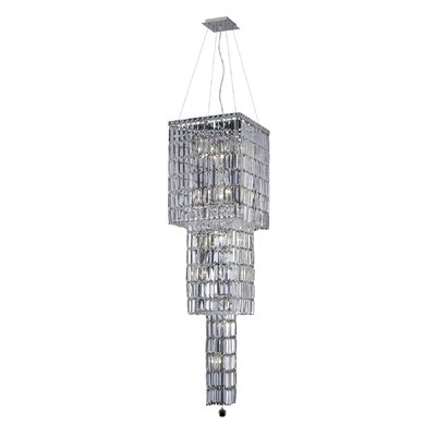 Maxim 14-Light Crystal Chandelier Crystal Grade: Elegant Cut, Crystal Color: Crystal (Clear)