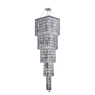 Bratton 22-Light Crystal Chandelier Crystal Grade: Strass Swarovski, Crystal Color: Golden Teak (Smoky)