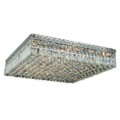 Maxim 13-Light 24 Flush Mount Crystal Grade: Spectra Swarovski
