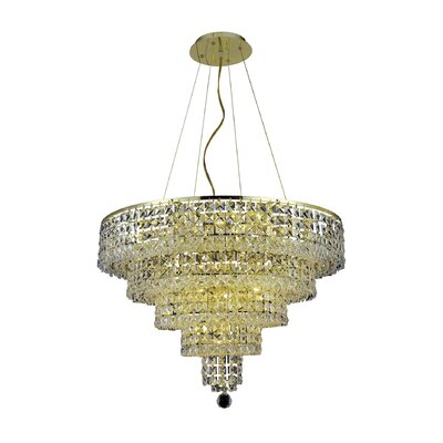 Bratton 14-Light Crystal Chandelier Crystal Trim: Elegant Cut