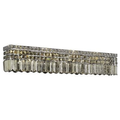 Bratton 8-Light Wall Sconce Crystal Grade: Royal Cut, Crystal Color: Golden Teak Smoky