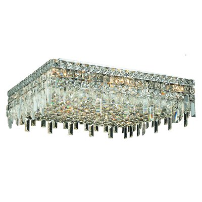Bratton 13-Light Semi Flush Mount Crystal Grade: Elegant Cut