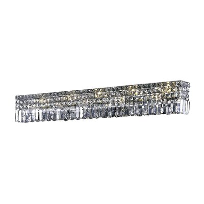 Bratton 10-Light Wall Sconce Crystal Grade: Strass Swarovski, Crystal Color: Golden Teak Smoky