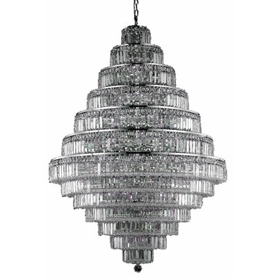 Langer 38-Light Crystal Chandelier Finish: Chrome, Crystal Grade: Elegant-Cut