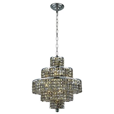 Bratton Modern 13-Light Crystal Chandelier Crystal Color / Crystal Trim: Silver Shade (Grey) / Royal Cut