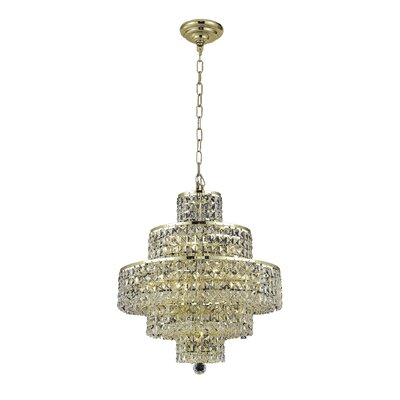 Bratton 13-Light Crystal Chandelier Crystal Trim: Strass Swarovski