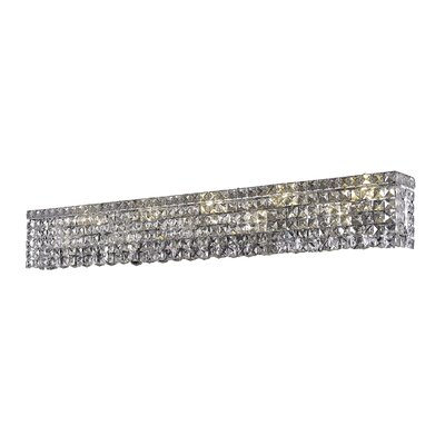 Bratton 10-Light Chrome Wall Sconce Crystal Color: Crystal Clear, Crystal Grade: Royal Cut