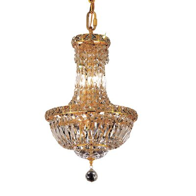 Tranquil 6-Light Empire Chandelier Finish: Gold, Crystal Trim: Chrome / Elegant Cut