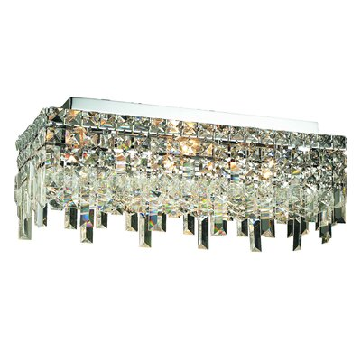 Maxim 4-Light Semi Flush Mount Crystal Grade: 20 / Spectra Swarovski