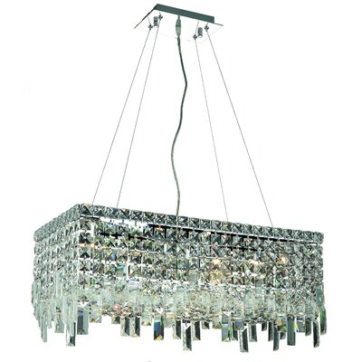 Maxim 6-Light Kitchen Island Pendant Crystal: Royal Cut