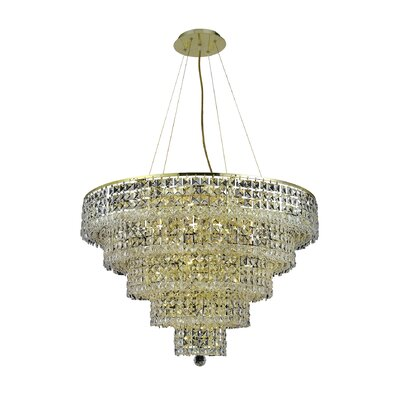 Bratton 17-Light Crystal Chandelier Crystal Trim: Strass Swarovski