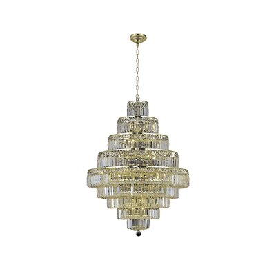Langer 20-Light Crystal Chandelier Finish: Gold, Crystal Grade: Swarovski Strass