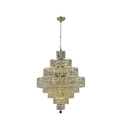 Bratton 18-Light Crystal Chandelier Crystal Trim: Strass Swarovski