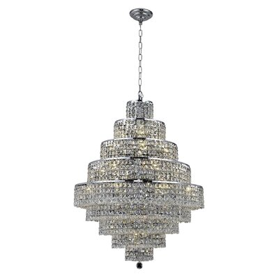 Bratton Contemporary 20-Light Crystal Chandelier Crystal Color / Crystal Trim: Crystal (Clear) / Royal Cut