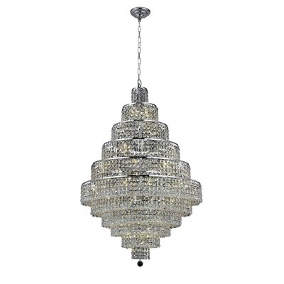 Bratton Contemporary 30-Light Crystal Chandelier Crystal Color / Crystal Trim: Crystal (Clear) / Elegant Cut