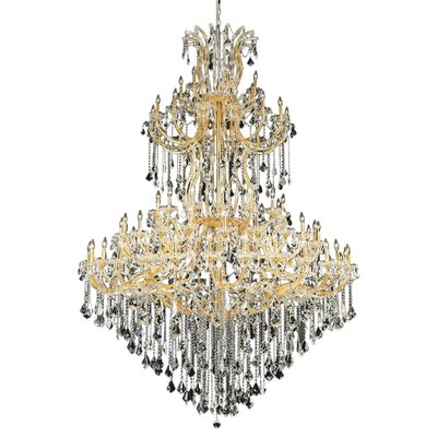 Regina Traditional 85-Light Crystal Chandelier Finish / Crystal Color / Crystal Trim: Chrome / Golden Teak (Smoky) / Strass Swarovski