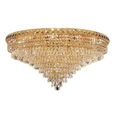 Fulham 18-Light Semi Flush Mount Finish: Gold, Crystal Grade: Chrome / Royal Cut
