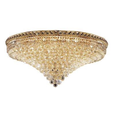 Miron 21-Light 16 Semi Flush Mount Finish: Gold, Crystal Grade: Chrome / Strass Swarovski