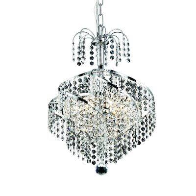 Landman 3-Light Crystal Chandelier Finish: Chrome, Crystal Grade: Swarovski Strass