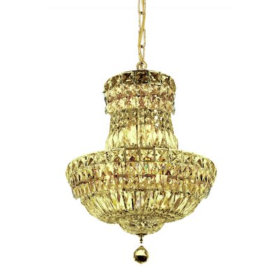 Fulham 6-Light Empire Chandelier Finish: Gold, Crystal Trim: Chrome / Royal Cut