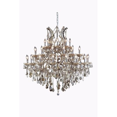 Regina Traditional 37-Light Crystal Chandelier